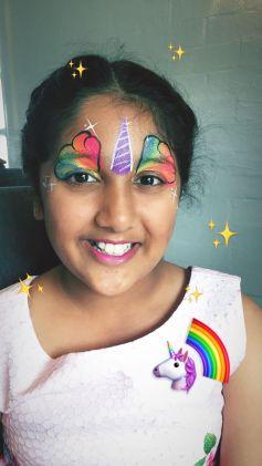 Rainbow Unicorn Facepaint