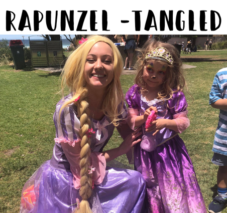 Rapunzel from Tangled Kids Entertainment for Parties